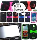 NP ARMOR Case with BUILT IN SCREEN PROTECTOR Faceplate Phone Cover For SAMSUNG