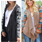 US 4 6 8 10 Womens Long Sleeve Knitted Sweater Cardigan Coat Tops Jacket Outwear
