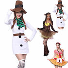 Ladies Gingerbread Girl Reindeer Elk Snowman Cosplay Costume X'mas Fancy Dress