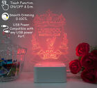 Arsenal Chelsea Manchester United City Liverpool 3D LED Dimmable Light Panel USB