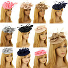 Ladies Women's Fashion Desinger Mesh Hat Feather Fascinator Hair Accessories