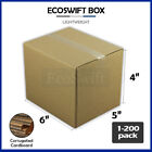 "1-200 6x5x4 ""EcoSwift"" Cardboard Packing Mailing Shipping Corrugated Box Cartons"
