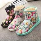 Fashion Women Lady Winter Fur Warm Snow Boots Ankle Boots Flat Suede Shoes N4U8
