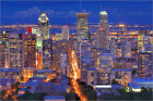 Poster / Leinwandbild High angle night view of downtown Montreal - Wei Fang
