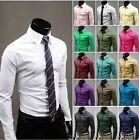 New Hot Classic Men's Luxury Business Dress Slim Fit Casual Long Sleeve Shirt