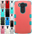 For LG V10 IMPACT TUFF HYBRID Protector Case Phone Cover Accessory +Screen Guard