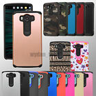 Hybrid Hard Rubber Protective Case Impact Cover For LG Phones V10 Leon G Stylo