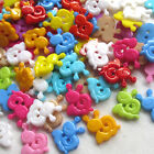 New 20/100/500pcs Mix Snail Plastic Buttons 15mm Sewing Craft 2 Holes Lots T0826