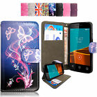Pu Leather Wallet Case Cover for Vodafone Smart Prime 6/Ultra 6/First 6/Speed 6