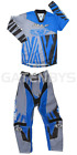 WULFSPORT BLUE KIDS MOTOCROSS PANTS + JERSEY TROUSERS YOUTH CHILD QUAD SHIRT PW