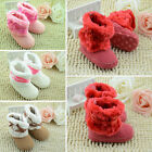 Cute Baby Boys Girl Winter Warm Boots Toddler Infant Soft Crib Shoes 0-18 Months