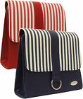 Ladies Designers Macbook Crossbody Massenger Office Bag Striped Satchel Handbag