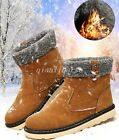 Snow Boots Mens Winter Warm High Top Pull On Flat Casual Mid Calf Boots Shoes Sz