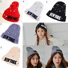 2015 1PC Women's Fashion Imitation Pearl Woolen Knitted Straight Hat Gifts