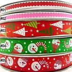 Mixed Colors Snowman Tree Christmas Grosgrain Ribbon Craft Sewing 9mm &25mm