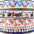 2Yard 10Yard 100Yard Owl Bird Rainbow Crane Cartoon Grosgrain Ribbon (22MM) 7/8""