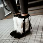 CHCI Winter Warm Snow Boots Ankle Boots Pull On Hidden Heel Strappy Women Shoes