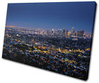 Los Angeles LA Night  City SINGLE CANVAS WALL ART Picture Print