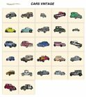 CARS VINTAGE. CD or USB machine embroidery designs files many formats pes etc