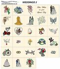 WEDDINGS 2. CD machine embroidery designs files bridal  most formats