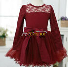 Baby Girls Princess Party Pageant Wedding Birthday Fancy Dress Clothing 12M-5T