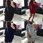Fashion Womens Slim Bodycon Long Sleeve Casual Party Package Hip Mini Dress DJNG