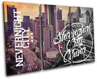 Shanghai Typography City TREBLE CANVAS WALL ART Picture Print