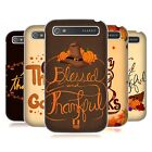 HEAD CASE DESIGNS THANKSGIVING TYPOGRAPHY HARD BACK CASE FOR BLACKBERRY PHONES