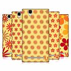 HEAD CASE DESIGNS FLORAL PATTERN HARD BACK CASE FOR SONY PHONES 3