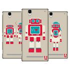 HEAD CASE DESIGNS RETROBOTS HARD BACK CASE FOR SONY PHONES 3
