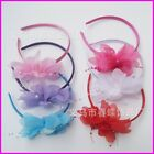 Children Hair Accessories Baby Hair Bands For Girls HairBands Flowers with beads