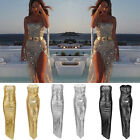UK Women Sequin Formal Prom Dress Cocktail Party Ball Gown Bridesmaid Maxi Dress