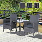 Rattan Furniture Bistro Set Garden Table Chair Patio Outdoor Conservatory Wicker