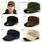 Fashion Unisex Classic Army Vintage Hat Cadet Military Patrol Plain Cap Hats LS