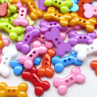 10/50/100/500pcs Dog Bone Toy Plastic Buttons 2 Holes Sewing Craft 18mm T0838