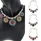 Bohemia Ethnic Collar Vintage Silver Plated New Pendant Statement Necklace USTB