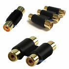 RCA PHONO COUPLER SINGLE TWIN TRIPLE PACKS OF 1, 2, 5, 10 CABLE EXTENDER JOINER