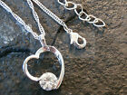 SILVER HEART PENDANT WITH GEM CHAIN NECKLACE /CHARM JEWELLERY BIRTHDAY WN040