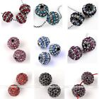 5x Crystal Rhinestone Pave 10mm Round Ball Spacer Loose Beads Jewelry Fashion