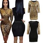 Clubwear Evening Cocktail Party Sequins Dress Women Bodycon Bandage Dress Q7YM