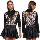outwear Short Jacket Floral Print Women Long Sleeve Brand New S, M, L, XL N4U8