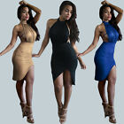 Womens Sexy Backless Club Slim Bodycon Party Evening Cocktail Dress Halter Strap