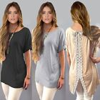 New Fashion Women Casual Sheer Embroidery Lace Crochet Shirt Loose Tops Blouse