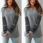 New Women's Long Sleeve Shirt Casual Blouse Loose Cotton Tops Ladies T Shirt UK