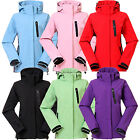 Women Soft Shell Outdoor Jacket Windproof Hiking Skiing Warm Coat Parka Outwear