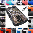 FOR LG PHONE MODEL 3-PIECE SHOCKPROOF HYBRID RUGGED CASE PROTECTIVE COVER+STYLUS