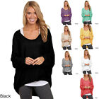 Fashion Oversized Ladies Loose Long Sleeve Shirt Blouse Baggy Tops Jumper New