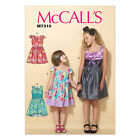 McCall's 7310 Sewing Pattern to MAKE Girls' Pleated, Square-Neckline Dresses