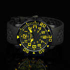 INFANTRY Mens Quartz Wrist Watch Rotatable Bezel Sport Military Black Rubber