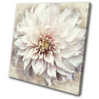 Vintage Shabby Chic Flower Floral SINGLE CANVAS WALL ART Picture Print